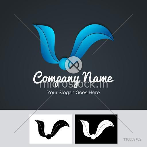 Creative shiny blue business symbol for your business or company.