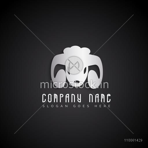Creative stylish silver business symbol for your factory or company.