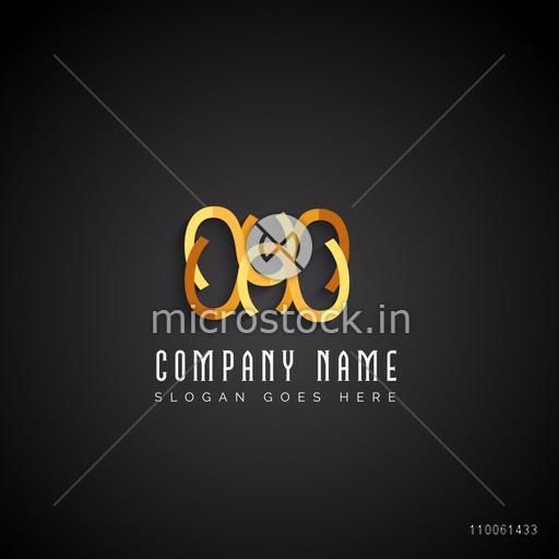Creative stylish shiny business symbol on black background for your company.