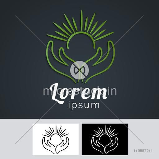 Best stylish creative design of business symbol in green color for your factory or company.