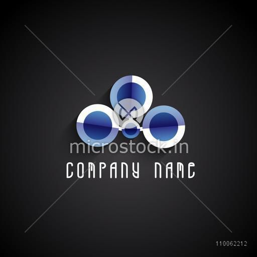Stylish creative business symbol on black background for your company and organisation.