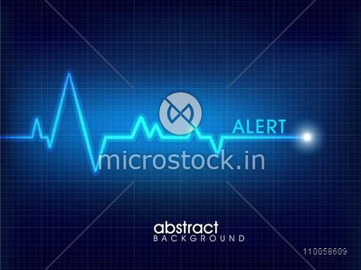 Abstract medical background with heart beats cardiogram.