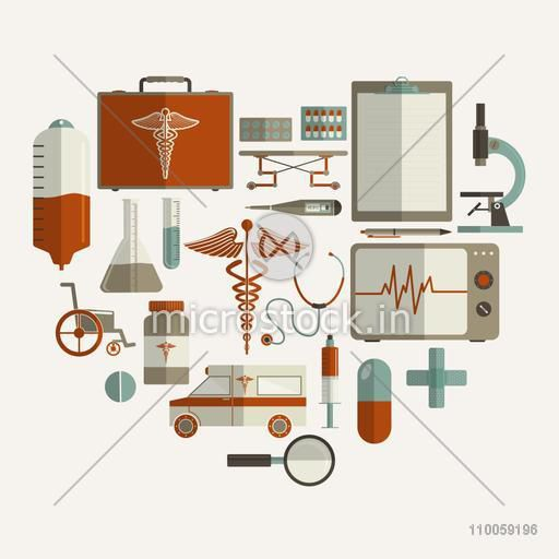 Health and Medical concept with different elements.