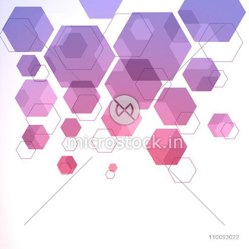 Modern abstract background with hexagonal geometric elements.