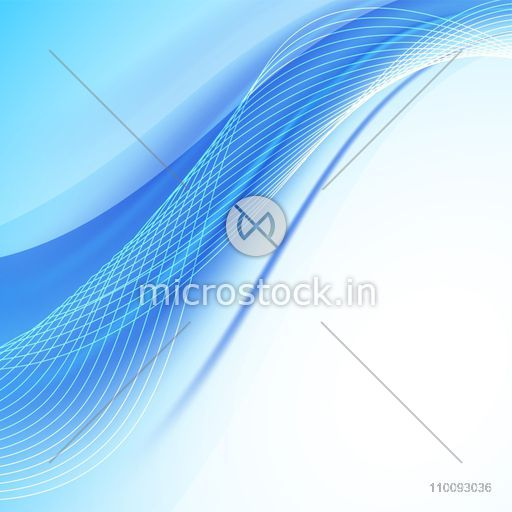 Blue and white abstract background with creative waves.