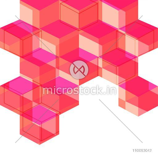 Creative abstract geometric background with blocks.