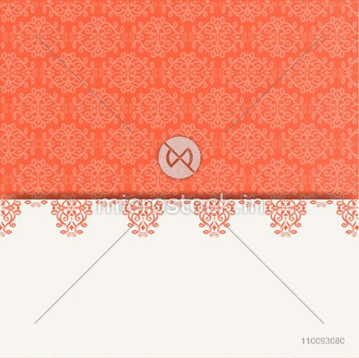 Beautiful floral ornaments decorated abstract background.