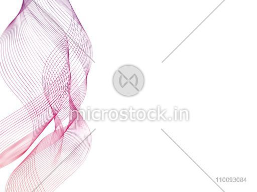Creative abstract flowing waves on white background.