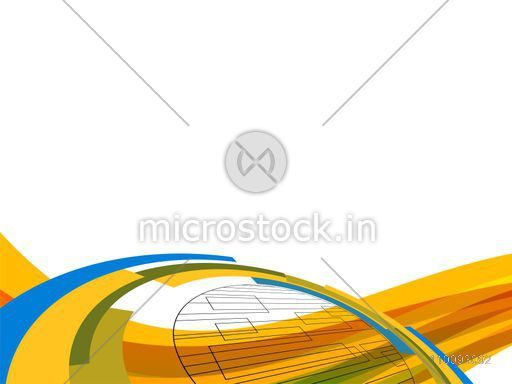 Abstract background with colorful waves and stripes, Technology concept.