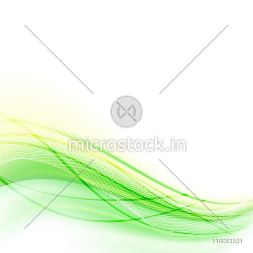 Green and yellow waves on white background.
