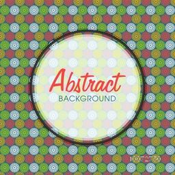 Colorful abstract floral design decorated seamless pattern with rounded frame.