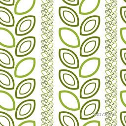 Glossy green leaves decorated abstract pattern design.