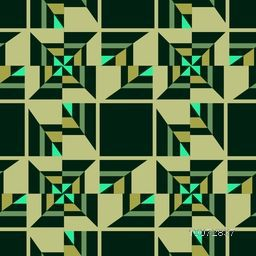 Creative abstract pattern design in green color.