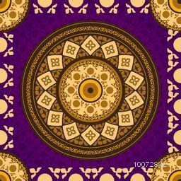 Creative purple color floral seamless pattern design.