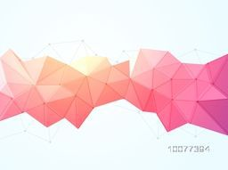 Creative origami abstract design on glossy background.