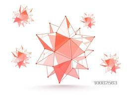 Abstract Geometric Shape from Triangulars, Creative Vector Illustration.