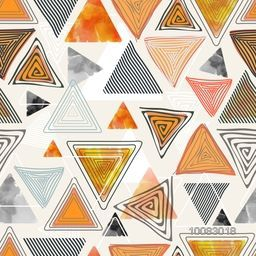 Creative colorful abstract background with geometric element triangles.