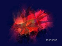 Creative shiny abstract low-poly background with brush stroke.