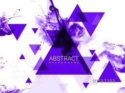 Creative abstract messy background with geometric element triangles.