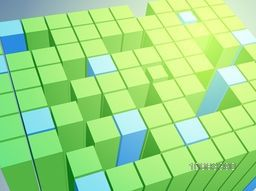 Shiny creative abstract background with 3D cubes.