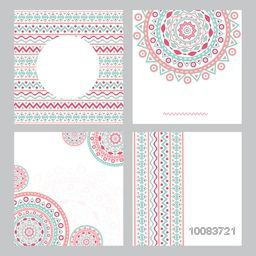 Creative abstract floral pattern, texture or background set with space for your text.