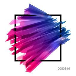 Colorful Abstract design decorated Background, Vector Illustration with Frame.