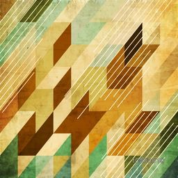 Vintage creative Abstract Pattern, Vector Illustration in Retro-Styled with Geometric Shapes.