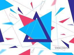 Creative Geometrical Shapes Background, Abstract Geometric Triangles, Vector Illustration.