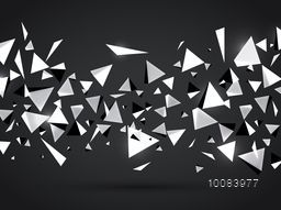 Abstract Geometrical Background, Creative Vector Illustration, Geometric Shapes Background.
