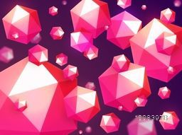 Abstract Geometrical Background. Creative Geometric Origami Hexagon Shapes. Vector Illustration.