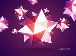 Abstract Background with Geometric Shape from Triangulars, Creative Vector Illustration.