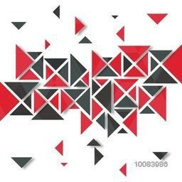Geometrical Abstract Background with creative Triangles, Vector Illustration.