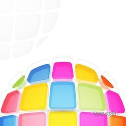 Creative abstract geometric background with glossy colorful squares.