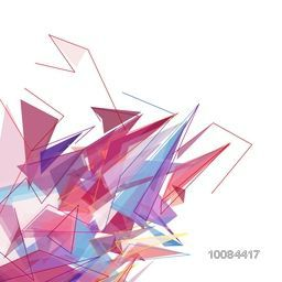 Creative mess abstract background with colorful geometric elements. Stylish futuristic vector illustration.
