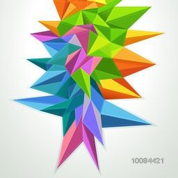 Creative abstract background with colorful geometric elements, Futuristic technology style background for your business.
