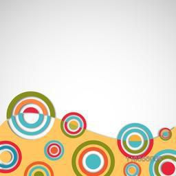 Abstract design of colourful spirals from bottom on grey background.