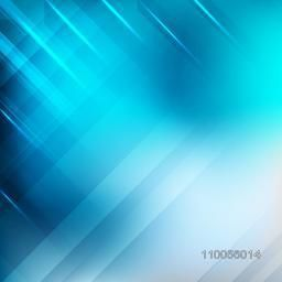 Shiny abstract design background in blue color.