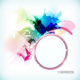 Rounded frame with abstract design on stylish background.