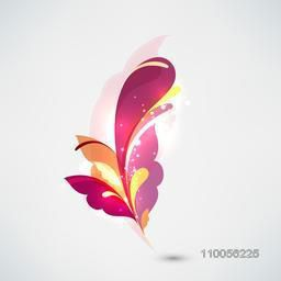 Colourful floral abstract design on light grey background.