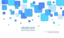 Creative abstract geometric background with blue squares.