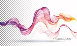 Creative abstract background with colorful smooth waves.
