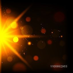 Glowing light burst effect. Sparkling abstract background with sun rays, glare texture.