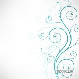 Beautiful floral design with space for your message. Vector illustration.
