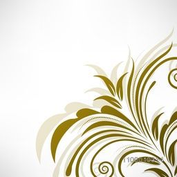 Beautiful floral design on glossy grey background. Vector illustration.