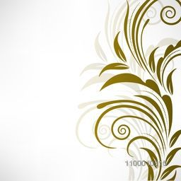 Beautiful floral design decorated background. Vector illustration.