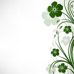 Beautiful green floral design. Vector illustration.