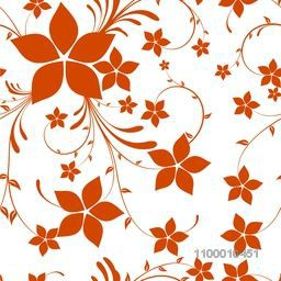 Creative abstract floral flowers design decorated pattern.