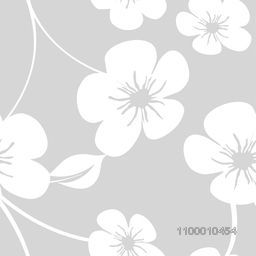 Abstract floral flowers decorated grey background.