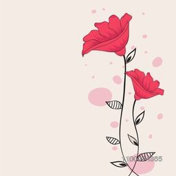 Beautiful pink flowers decorated background.