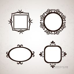 Set of different floral frames with space for your message.